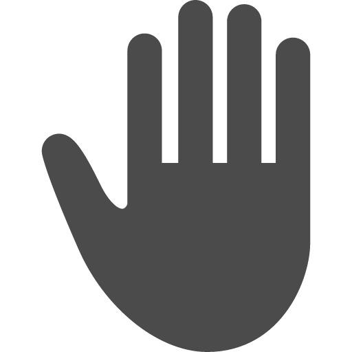 ストップ禁止の手のひらアイコン